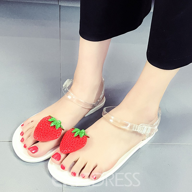 Ericdress Concise Cherry Decorated Flat Sandals