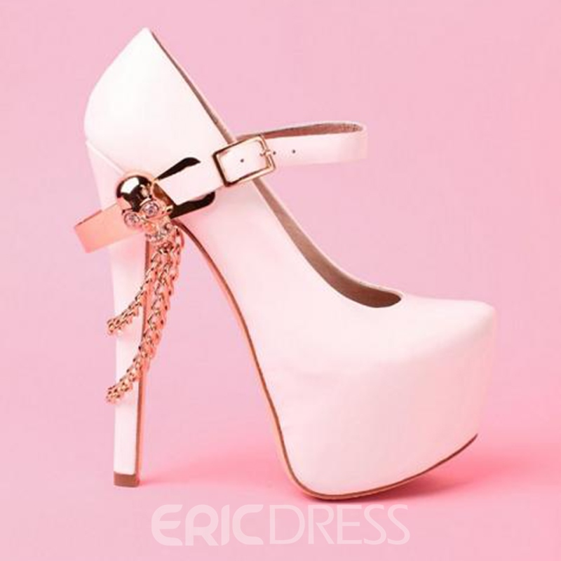 Elegant Platform Stiletto Heels with Skull & Chains