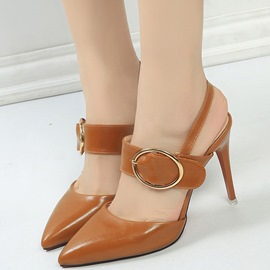 Ericdress Charming Point Toe Buckles Backless Stiletto Sandals