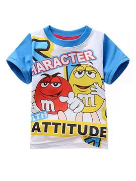 Ericdress Cartoon Marble Chocolate Printing Boys T-Shirt