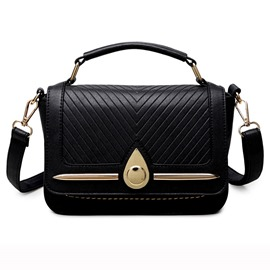 Ericdress Elegant Triangle Embossed Handbag