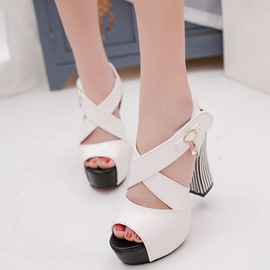 Ericdress Cross Strap Platform Chunky Sandals