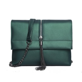 Ericdress Novelty Zipper Tassel Decorated Shoulder Bag