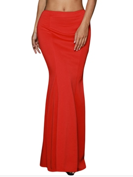 Ericdress High Waisted Red Package Buttocks Women's Skirts