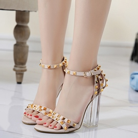 Ericdress Colorful Rivets Open Toe Chunky Sandals