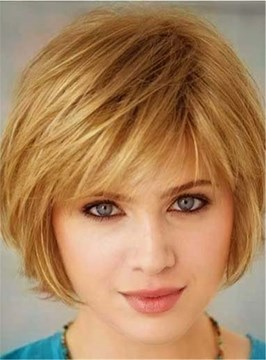 Ericdress Straight Bob Human Hair Blend Short Capless Wigs 8 Inches