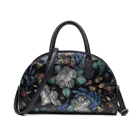 Ericdress National Floral Print Commute Shell Handbag