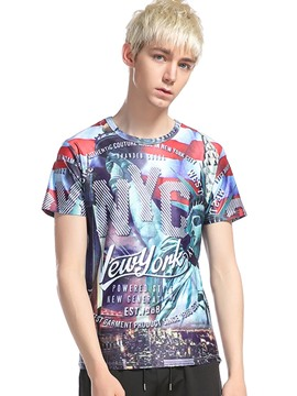 Ericdress 3D Print Street Style Casual Men's T-Shirt