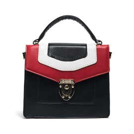 Ericdress Preppy Casual Color Block Handbag