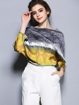 Ericdress Printed Batwing Sleeve T-Shirt