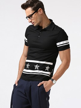 Ericdress Print Lapel Men's Polo T-Shirt
