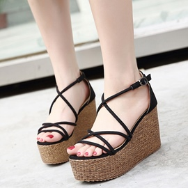 Ericdress Korean Cross Strap Platform Wedge Sandals