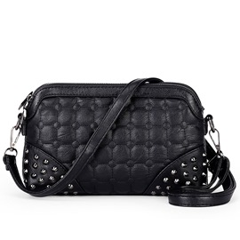 Ericdress Three Layer Rivets Decorated Crossbody Bag