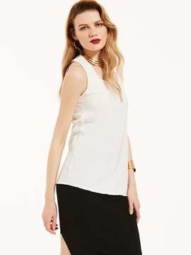Ericdress Plain Halter Backless Vest