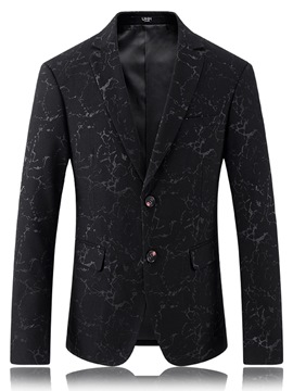 Ericdress Single-Breasted Lapel Jacquard Slim Gentlemen's Blazer
