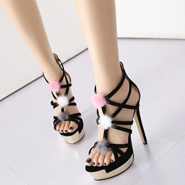 Ericdress Delicate Cut Out Platform Stiletto Sandals