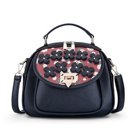 Ericdress Stereo Flower Applique Print Handbag