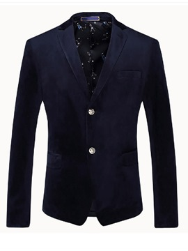 Ericdress Single-Breasted Pocket Plain Quality Men's Blazer