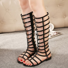 Ericdress Roman Rivets Decorated Cut Out Flat Sandals