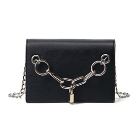 Ericdress Personality Lock Decorated Latch Crossbody Bag