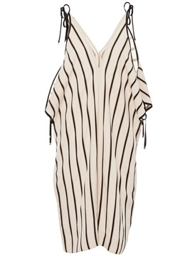 Ericdress Striped Lace-Up Wide Leg Women's Jumpsuits