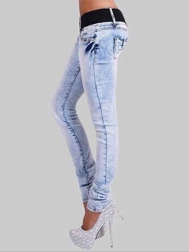 Ericdress Denim Light Blue Women's Jeans