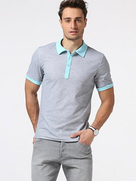 Ericdress Color Block Collar Polo Men's T-Shirt