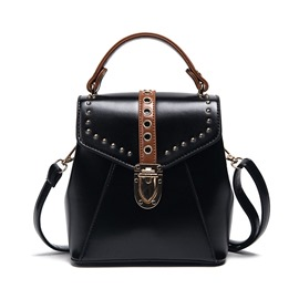 Ericdress Trendy Rivets Bucket Handbag