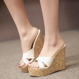Ericdress Fashion Platform Peep Toe Mules Shoes