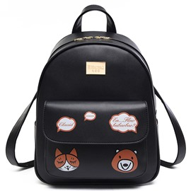 Ericdress Lovely Cartoon Print Backpack