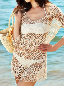 Ericdress Solid Color Cut-Out Hollow Cover-Up