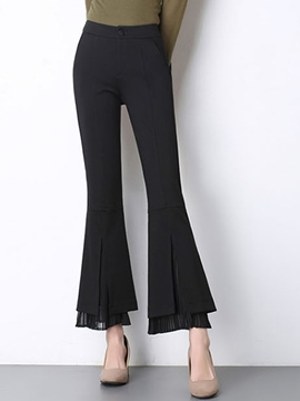 Ericdress High Waisted Flared Women's Pants