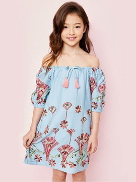 Ericdress Embroidery Strapless Half Sleeves Dress