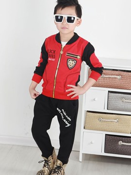Ericdress Tiger Printing Boys Casual 3-Pcs Set