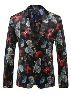 Ericdress Butterfly Print Unique Vogue Men's Blazer