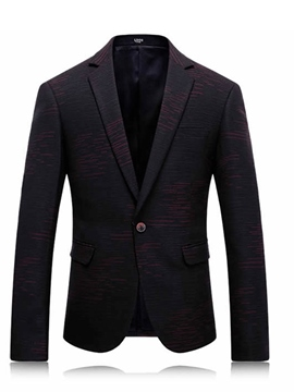 Ericdress Vogue Jacquard Quality One Button Classic Men's Blazer