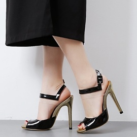 Ericdress Eurameric PU Peep Toe Stiletto Sandals