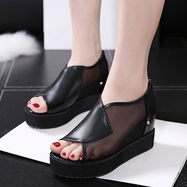 Ericdress Mesh Patchwork Elevator Heel Wedge Shoes