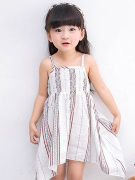 Ericdress Summer Asymmetrical Spaghetti Strap Girls Dress