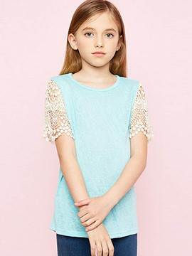 Ericdress Patchwork Loose Summer Girls Shirt