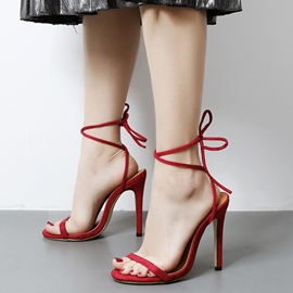 Ericdress Eurameric Suede Lace up Stiletto Sandals