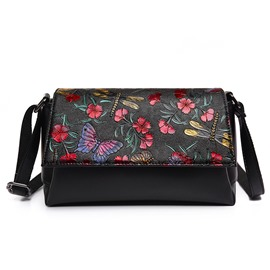 Ericdress Retro Temperament Floral Embossed Shoulder Bag