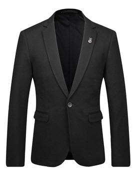 Ericdress Plain Simple One Button Men's Blazer