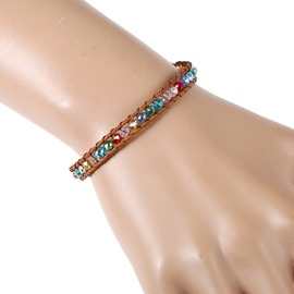 Ericdress Handmade Weaving Colored Bead Fashion Bracelet