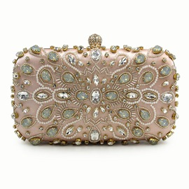 Ericdress Deluxe Beaded Rhinestone Pillow Evening Clutch