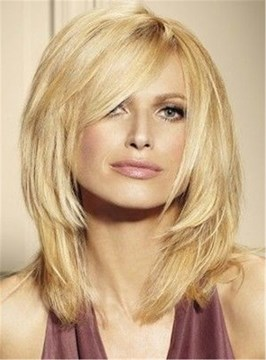 Ericdress Blunt Cut Loyered Straight Women Synthetic Hair Capless Wig 14 Inches