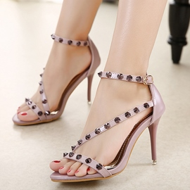 Ericdress Sexy OL Rivets Decoration Stiletto Sandals