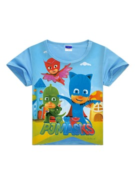 Ericdress PJMASKS Printing Loose Boys T-Shirt