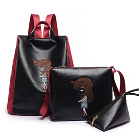 Ericdress Exquisite Cartoon Embroidery Nylon Handbags(3 Bags)