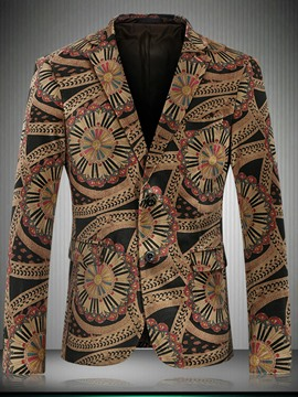 Ericdress Unique Ethnic Print Vogue Men's Blazer